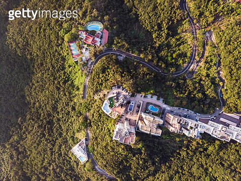 Straight down view of luxury apartment towers in Hong Kong - gettyimageskorea