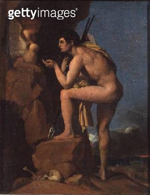 <b>Title</b> : Oedipus and the Sphinx, c.1826 (oil on canvas)<br><b>Medium</b> : oil on canvas<br><b>Location</b> : National Gallery, London, UK<br> - gettyimageskorea