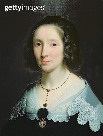 <b>Title</b> : Portrait of Charlotte Duchesne (oil on canvas)Additional Infomarried the artist in 1628;<br><b>Medium</b> : oil on canvas<br><b>Location</b> : The Bowes Museum, Barnard Castle, County Durham, UK<br> - gettyimageskorea