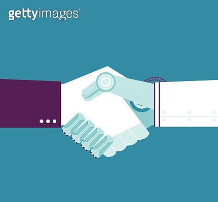 Robotic Handshake - gettyimageskorea