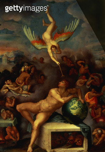 <b>Title</b> : Allegory of Life (oil on copper)Additional Infosee also The Dream of Human Life by Michelangelo;<br><b>Medium</b> : <br><b>Location</b> : Galleria degli Uffizi, Florence, Italy<br> - gettyimageskorea