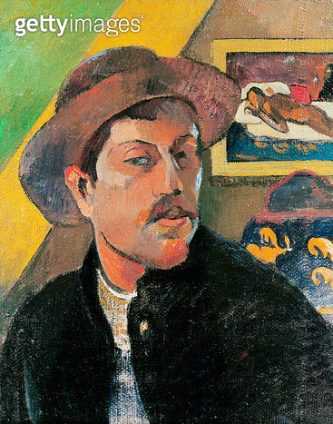 <b>Title</b> : Self Portrait in a Hat, 1893-94 (oil on canvas)<br><b>Medium</b> : oil on canvas<br><b>Location</b> : Musee d'Orsay, Paris, France<br> - gettyimageskorea