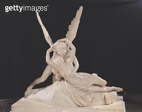 <b>Title</b> : Psyche Revived by the Kiss of Love, 1787-93 (marble) (see also 123192)<br><b>Medium</b> : marble<br><b>Location</b> : Louvre, Paris, France<br> - gettyimageskorea
