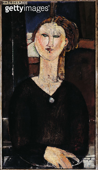<b>Title</b> : Antonia, c.1915 (oil on canvas)<br><b>Medium</b> : oil on canvas<br><b>Location</b> : Musee de l'Orangerie, Paris, France<br> - gettyimageskorea