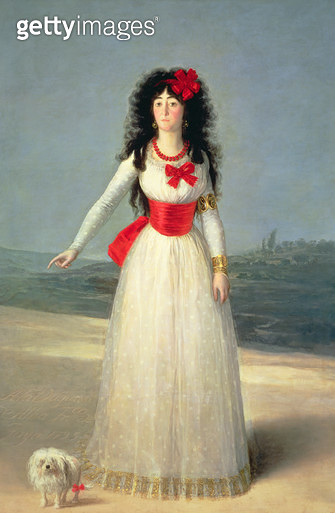 <b>Title</b> : The Duchess of Alba, 1795 (oil on canvas)<br><b>Medium</b> : oil on canvas<br><b>Location</b> : Palacio de Liria, Madrid, Spain<br> - gettyimageskorea