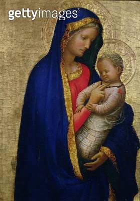 <b>Title</b> : Madonna Casini (tempera & gold leaf on panel)<br><b>Medium</b> : <br><b>Location</b> : Galleria degli Uffizi, Florence, Italy<br> - gettyimageskorea