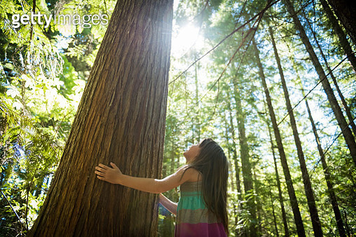 Young girl connecting with nature - gettyimageskorea