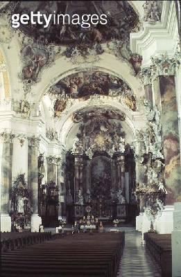 <b>Title</b> : Ottobeuren Abbey, Germany, Interior Looking East (photo)<br><b>Medium</b> : <br><b>Location</b> : <br> - gettyimageskorea
