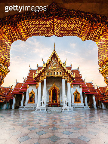 Sunrise at Marble Temple, Bangkok, Thailand - gettyimageskorea