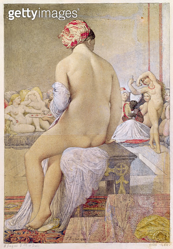 <b>Title</b> : Odalisque or the Small Bather, 1864 (w/c on paper)<br><b>Medium</b> : watercolour on paper<br><b>Location</b> : Musee Bonnat, Bayonne, France<br> - gettyimageskorea