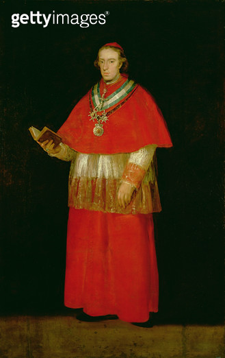 <b>Title</b> : Cardinal Don Luis de Bourbon (1777-1823) c.1800 (oil on canvas)<br><b>Medium</b> : oil on canvas<br><b>Location</b> : Prado, Madrid, Spain<br> - gettyimageskorea