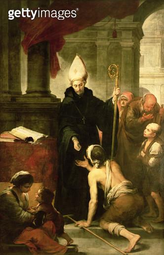 St. Thomas of Villanueva Distributing Alms/ 1678 (oil on canvas) - gettyimageskorea