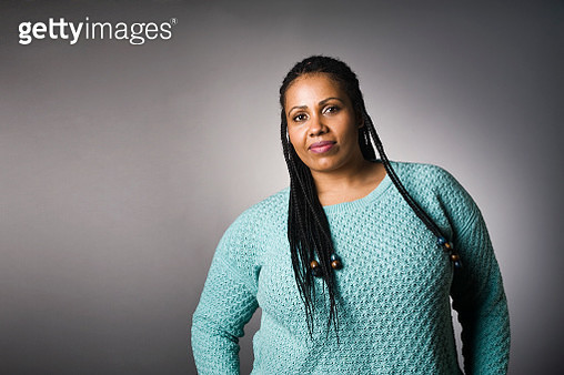 Portrait of Mixed Race Plus Size African American Woman - gettyimageskorea