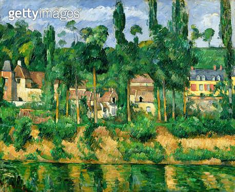 <b>Title</b> : The Chateau de Medan, c.1880 (oil on canvas)<br><b>Medium</b> : oil on canvas<br><b>Location</b> : Burrell Collection, Glasgow, Scotland<br> - gettyimageskorea
