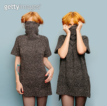 Same woman, double exposure - gettyimageskorea