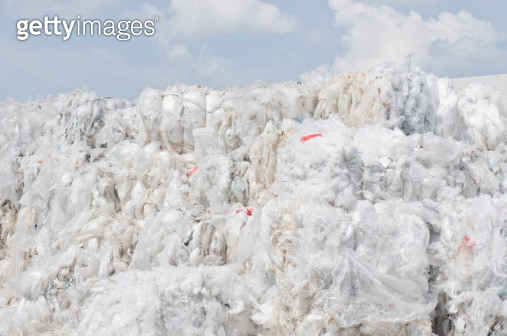 cluster of plastic-foil for recycling - gettyimageskorea