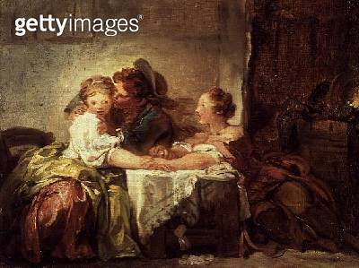 <b>Title</b> : The Prize of a Kiss, 1760<br><b>Medium</b> : oil on canvas<br><b>Location</b> : Hermitage, St. Petersburg, Russia<br> - gettyimageskorea