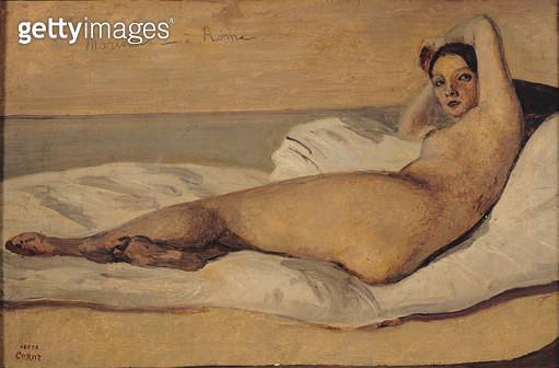<b>Title</b> : The Roman Odalisque (Marietta) 1843 (oil & pencil on paper)<br><b>Medium</b> : oil and pencil on paper<br><b>Location</b> : Musee de la Ville de Paris, Musee du Petit-Palais, France<br> - gettyimageskorea