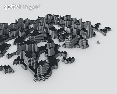 Abstract futuristic city - gettyimageskorea