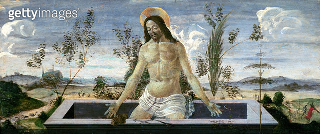 <b>Title</b> : Predella panel depicting the Resurrection, from the St. Barnabas Altarpiece (tempera on panel) (see also 44334,44354,44358,85657<br><b>Medium</b> : tempera on panel<br><b>Location</b> : Galleria degli Uffizi, Florence, Italy<br> - gettyimageskorea