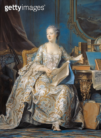 <b>Title</b> : Jeanne Poisson (1721-64) the Marquise de Pompadour, 1755 (pastel on paper mounted on canvas)<br><b>Medium</b> : pastel on paper mounted on canvas<br><b>Location</b> : Louvre, Paris, France<br> - gettyimageskorea