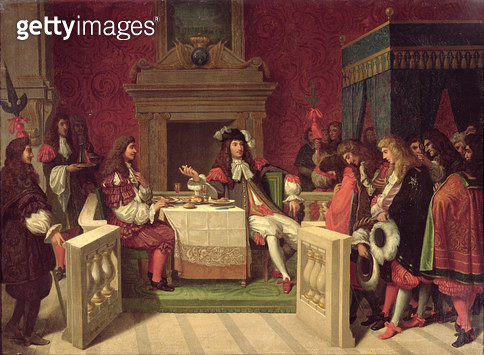 <b>Title</b> : Moliere (1622-73) Dining with Louis XIV (1638-1715) 1857 (oil on canvas)<br><b>Medium</b> : oil on canvas<br><b>Location</b> : Comedie Francaise, Paris, France<br> - gettyimageskorea