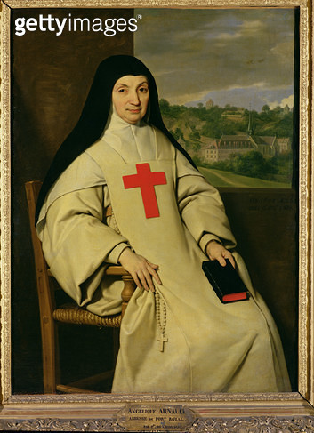 <b>Title</b> : Mother Angelique Arnauld (1591-1661) Abbess of Port-Royal, 1654 (oil on canvas)<br><b>Medium</b> : oil on canvas<br><b>Location</b> : Louvre, Paris, France<br> - gettyimageskorea