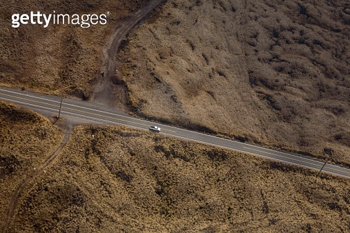 Rural highway, aerial view - gettyimageskorea