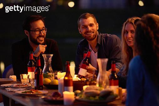 Beer party outdoors - gettyimageskorea
