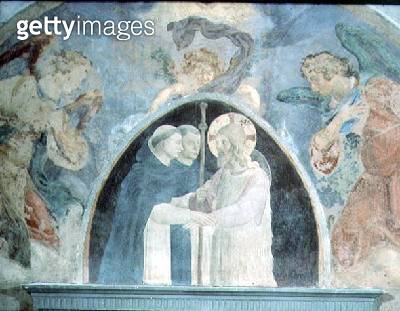 Christ with Pilgrims (fresco) - gettyimageskorea