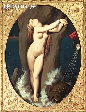 <b>Title</b> : Angelica in Chains, 1859 (oil on canvas)Additional InfoAngelique enchainee; 'Orlando Furioso' by Ariosto; rescued by Ruggiero;<br><b>Medium</b> : oil on canvas<br><b>Location</b> : Museu de Arte, Sao Paulo, Brazil<br> - gettyimageskorea
