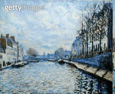 <b>Title</b> : 'The Seine, Paris', in the manner of Alfred Sisley (1839-99) (oil on canvas)<br><b>Medium</b> : oil on canvas<br><b>Location</b> : Private Collection<br> - gettyimageskorea