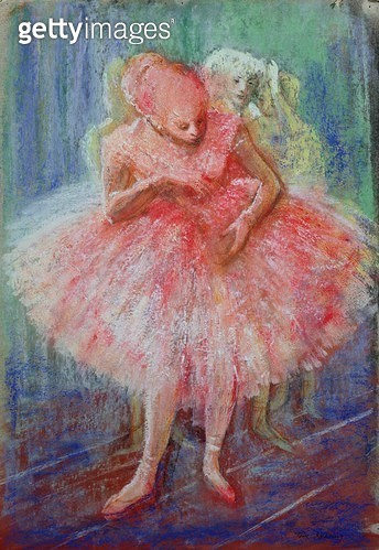 <b>Title</b> : 'Ballet', in the manner of Edgar Degas (1834-1917) (pastel on paper)<br><b>Medium</b> : pastel on paper<br><b>Location</b> : Private Collection<br> - gettyimageskorea