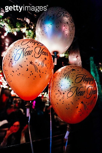 Happy New Year Balloons - gettyimageskorea