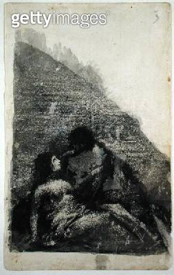 <b>Title</b> : Lovers reclining together in the dark (black ink and wash on paper)<br><b>Medium</b> : black ink and wash on paper<br><b>Location</b> : Hamburger Kunsthalle, Hamburg, Germany<br> - gettyimageskorea