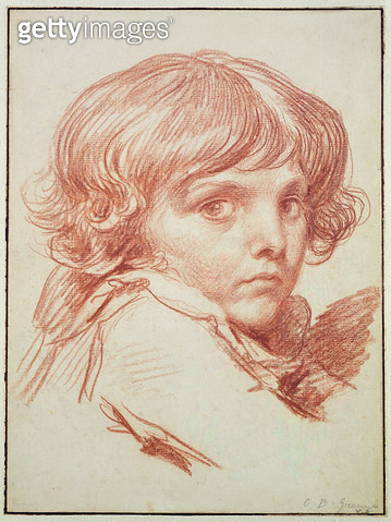 <b>Title</b> : Portrait of a Young Boy (red chalk on paper)Additional InfoYoungest child of the family;<br><b>Medium</b> : red chalk on paper<br><b>Location</b> : Hamburger Kunsthalle, Hamburg, Germany<br> - gettyimageskorea