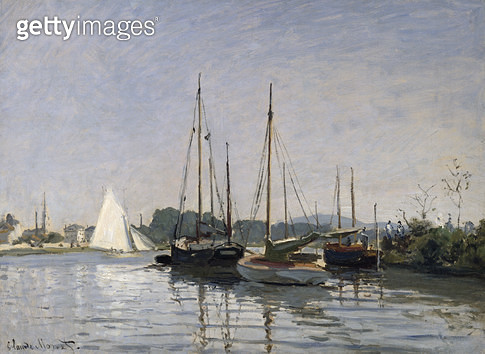 <b>Title</b> : Pleasure Boats, Argenteuil, c.1872-3 (oil on canvas)<br><b>Medium</b> : oil on canvas<br><b>Location</b> : Musee d'Orsay, Paris, France<br> - gettyimageskorea