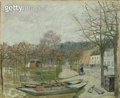 <b>Title</b> : The Flood at Port-Marly, 1876 (oil on canvas)Additional InfoL'inondation a Port-Marly;<br><b>Medium</b> : oil on canvas<br><b>Location</b> : Fitzwilliam Museum, University of Cambridge, UK<br> - gettyimageskorea