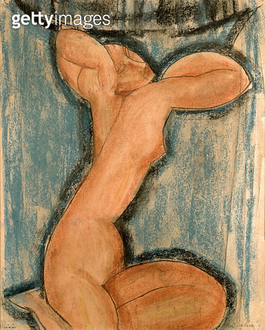 <b>Title</b> : Caryatid, 1911 (pastel on paper)<br><b>Medium</b> : pastel on paper<br><b>Location</b> : Musee d'Art Moderne de la Ville de Paris, Paris, France<br> - gettyimageskorea