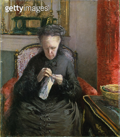 <b>Title</b> : Madame Martial Caillebotte, 1877 (oil on canvas)<br><b>Medium</b> : oil on canvas<br><b>Location</b> : Private Collection<br> - gettyimageskorea