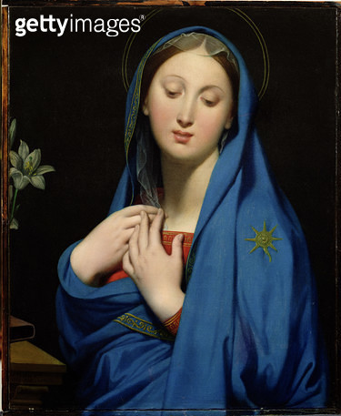 <b>Title</b> : Virgin of the Adoption, 1858 (oil on canvas)<br><b>Medium</b> : oil on canvas<br><b>Location</b> : Private Collection<br> - gettyimageskorea