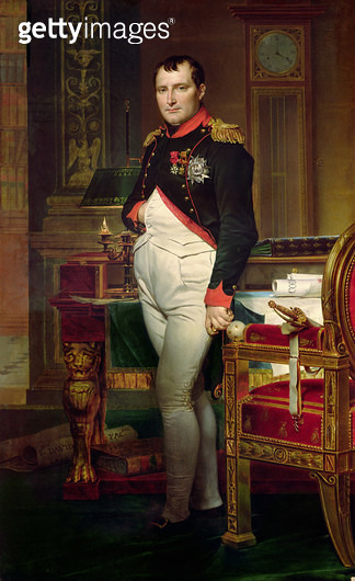 <b>Title</b> : Napoleon Bonaparte (1769-1821) in his Study at the Tuileries, 1812 (oil on canvas)<br><b>Medium</b> : oil on canvas<br><b>Location</b> : Private Collection<br> - gettyimageskorea