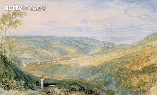 <b>Title</b> : Gibside, County Durham from the South (w/c on paper) (see 155786 for pair)<br><b>Medium</b> : watercolour on paper<br><b>Location</b> : The Bowes Museum, Barnard Castle, County Durham, UK<br> - gettyimageskorea