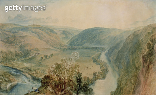 <b>Title</b> : Gibside, County Durham from the North (w/c on paper) (see 155783 for pair)<br><b>Medium</b> : <br><b>Location</b> : The Bowes Museum, Barnard Castle, County Durham, UK<br> - gettyimageskorea