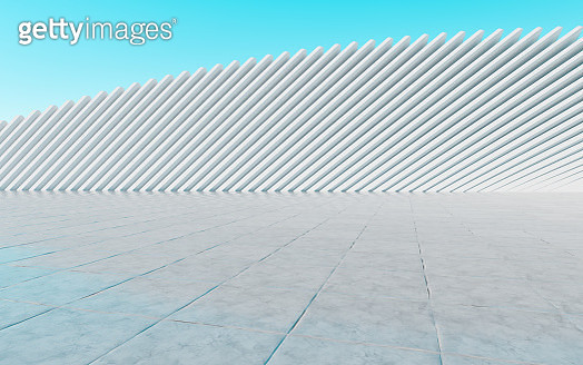 3D rendering futuristic building background - gettyimageskorea
