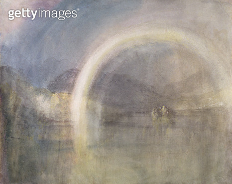 <b>Title</b> : Rainbow Over Loch Awe, c.1831 (pencil and w/c on paper)<br><b>Medium</b> : pencil and watercolour on paper<br><b>Location</b> : Private Collection<br> - gettyimageskorea