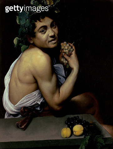 <b>Title</b> : The Sick Bacchus, 1591 (oil on canvas)<br><b>Medium</b> : oil on canvas<br><b>Location</b> : Galleria Borghese, Rome, Italy<br> - gettyimageskorea