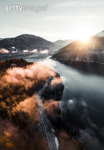 Clouds over lake in Germany - gettyimageskorea