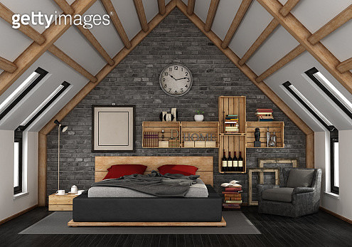Interior Of Modern Bedroom At Home - gettyimageskorea