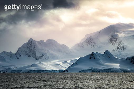 Sunrise over Antarctica Mainland - gettyimageskorea